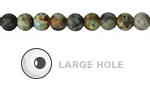 African Turquoise Matte Round (Large Hole) 6mm