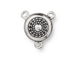 TierraCast Antique Silver (plated) Beaded Magnetic Clasp 20x18mm