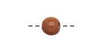 Tagua Nut Caramel Round 9mm