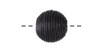 Black Thread Wrapped Bead 14mm