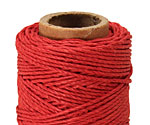 Red Hemp Twine 20 lb, 205 ft
