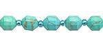 Turquoise Magnesite Energy Tube 8x7mm