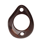 Tagua Nut Espresso Open Slice Link 40-48x32-40mm