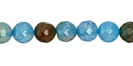 Blue Haze Fire Agate Faceted Round 8mm