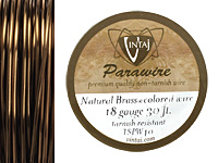 Vintaj Natural Brass Parawire 18 gauge, 30 feet