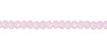 Pink Opal Crystal Faceted Rondelle 4mm