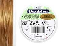 "Beadalon Satin Gold .015"" 7 Strand Wire 30ft."