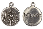 Green Girl Pewter Iris Wisdom Pendant 24x28mm