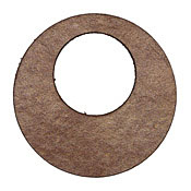 Lillypilly Golden Brown Leather Large Open Round 50mm