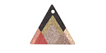 Summit View Etched & Printed Rose Gold Finish Triangle Focal 22x19mm