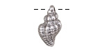 Antique Silver (plated) Cinerea Shell Focal 11x21mm