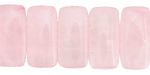 Rose Quartz 2-Hole Rounded Rectangle 10x20mm