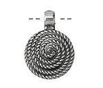 Zola Elements Antique Silver (plated) Roped Spiral Focal 24x32mm