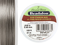 "Beadalon Bright .018"" 7 Strand Wire 100ft."