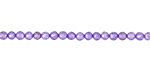Lavender Cubic Zirconia Faceted Round 3mm