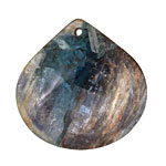Kyanite (in resin) Flat Teardrop Pendant 40mm