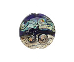 Grace Lampwork Transparent Purple Free Style Lentil 27-28mm