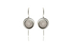 Nunn Design Antique Silver (plated) Earring Wire Circle 8mm