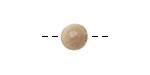 Tagua Nut Parchment Round 9mm