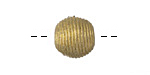 African Brass Corrugated Round 13-14mm