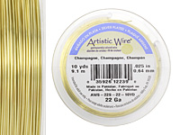 Artistic Wire Silver Plated Champagne 22 gauge, 10 yards