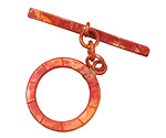 Patricia Healey Copper Large Lined Toggle 24x29mm, 41mm