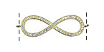 Gold (plated) CZ Micro Pave Infinity Link 35x12mm