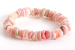 Pink Opal Chips Stretch Bracelet