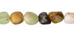 Antique Soochow Jade Tumbled Nugget 7-10mm
