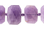 Amethyst Faceted Flat Slab 14-17x20-24mm