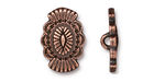 TierraCast Antique Copper (plated) Western Button 14x20mm