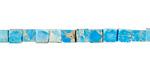 Turquoise Impression Jasper Cube 4mm