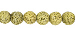 Moss Green Lava Rock Unwaxed Round 9mm