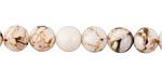 White Mosaic Shell Round 8mm
