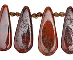 Hessonite Graduated Flat Teardrop 10-13x22-36mm