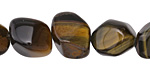 Blue Tiger Eye Tumbled Faceted Nugget 13-16x11-13mm