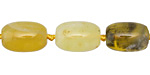 Yellow Opal Tumbled Barrel 11-14x8-10mm