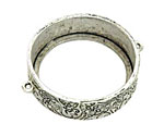 Nunn Design Antique Silver (plated) Grande Circle Open Bezel Link 42x35mm