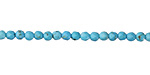 Turquoise Blue Magnesite Faceted Round 3mm