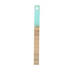 Wood & Sea Green Resin Stick Drop 3.5x40mm