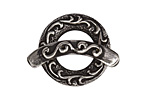 Saki Sterling Silver Ocean Tide Toggle Clasp 24mm, 30mm bar