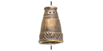 Greek Antique Brass (plated) Native Cone 17x12mm