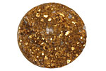 Druzy (metallic gold) Round Cabochon 30mm