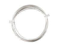 German Style Wire Silver (plated) Round 26 gauge, 20 meters