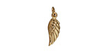 Nina Designs Natural Bronze Tiny Angel Wing Charm 5x19mm