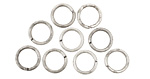 Antique Silver (plated) Round Jump Ring 8mm, 18 gauge