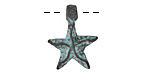 Greek Copper Patina Starfish Charm 18mm