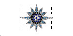Storm Mix Pave CZ Rhodium (plated) Starburst Focal Link 23x19mm
