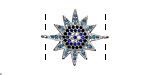 Storm Mix Pave CZ Rhodium (plated) Starburst Focal Link 23x19mm