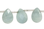 Amazonite Faceted Flat Teardrop 13x18mm